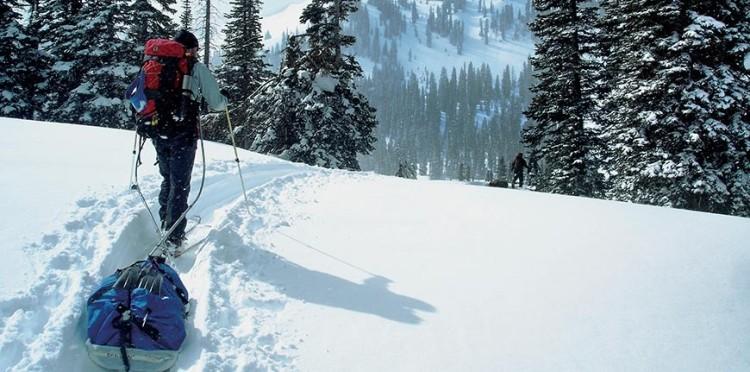 Ski touring in the Grand Tetons