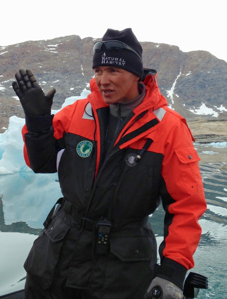Julius Nielson leading a Natural Habitat Adventures tour in Greenland
