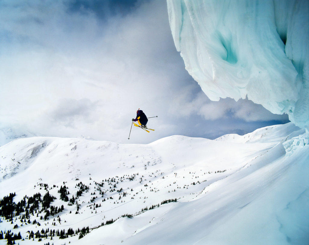 skiier in Colorado, by Marc Muench