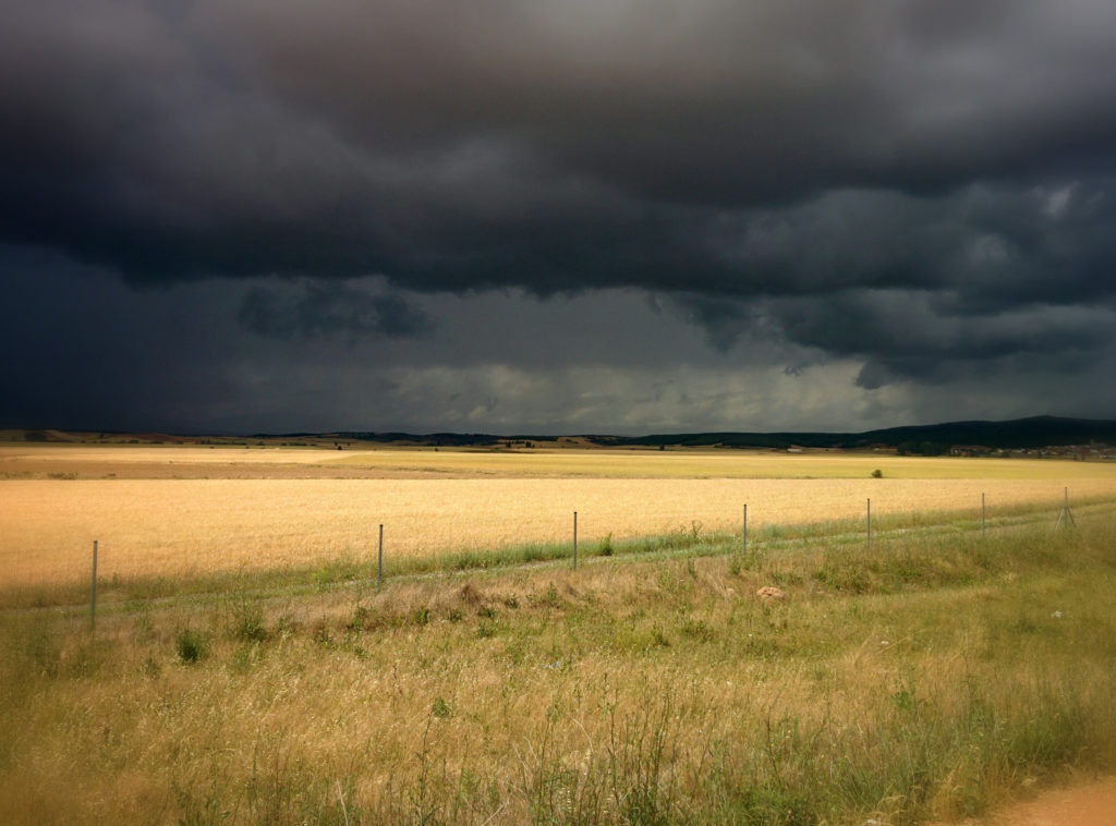 storm over the meseta, Spain, Camino de Santiago