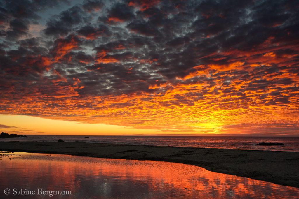 sunset in Big Sur, California by Sabine Bergmann